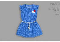 Платье для девочки с якорями