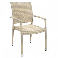 Стул Викер-3 беж, стул плетеный, стул из искусственного ротанга
