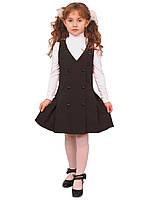 """Сарафан школьный для девочки М-887  рост 122 черный тм """"Попелюшка"""", фото 1"""