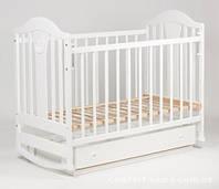 Детская кроватка Laska-M Наполеон NEW с ящиком (белый)