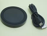 Бездротове зарядний пристрій QI 5 Black, фото 3