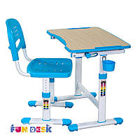Комплект FunDesk Парта и стул-трансформеры Piccolino II Blue