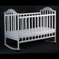 Детская кроватка Laska-M Наполеон NEW без ящика (белый)