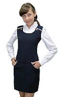 Сарафан школьный для девочки М-959 рост  140  146 152 158 и  164 черный, фото 1