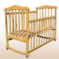 Детская кроватка Laska-M Славянка Эко без ящика (без лака, нат.ольха)