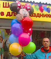 Букет-фонтан из шариков Минни из Микки Мауса на День рождения