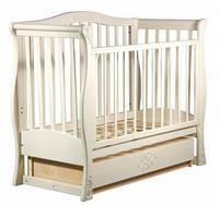 Детская кроватка-диван Laska-M VIVA LUX с ящиком (ваниль)