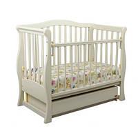 Детская кроватка-диван Laska-M VIVA с ящиком (сл. кость)