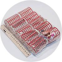 Бигуди пластиковые с накладкой 10шт/уп, диаметр 40мм, длина 68 мм.