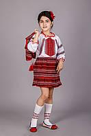 Вышитый костюм для девочки троечка