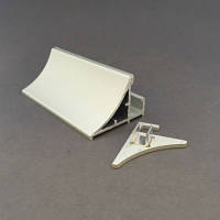 Комплект заглушек к профилю для подсветки стеклянных полок