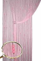 Нитяные шторы  ЖЕМЧУГ розовые (05), фото 1