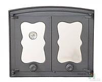 Дверки чугунные со стеклом Batumi 4 с термометром