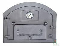 Дверка чугунная Pizza 1T с термометром, фото 1