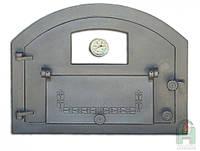 Дверка чугунная Pizza 1T со стеклянным окошком и термометром