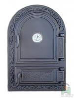 Дверки чугунные DW10Т с термометром, фото 1