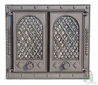 Дверки чугунные Litva со стеклом, фото 1