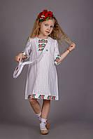 Вышитое платье для девочки с сумочкой