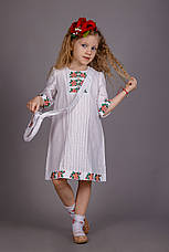 Вышитое платье для девочки с сумочкой, фото 2