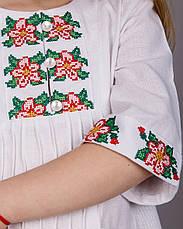Вышитое платье для девочки с сумочкой, фото 3