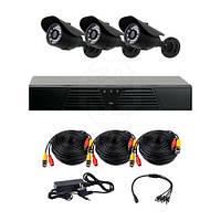 Комплект AHD видеонаблюдения на 3 уличные камеры CoVi Security AHD-3W KIT