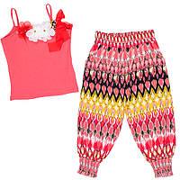Красивый летний костюм для девочек майка с бриджами
