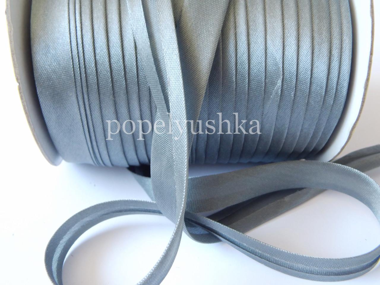 Коса бейка 1,5 см сіра