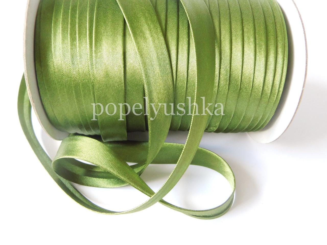 Коса бейка 1,5 см темно-оливкова