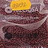 Бисер 10/0, цвет - темно-бордовый (непрозрачный),  № 93192 (уп.50 грамм)
