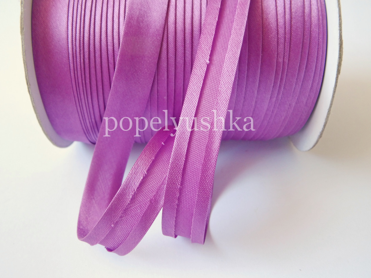 Коса бейка 1,5 см фіолетова