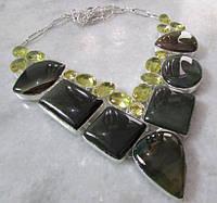 Ожерелье из натуральной Яшмы и Лимонного Кварца
