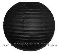 Бумажный подвесной фонарик, черный, 30 см