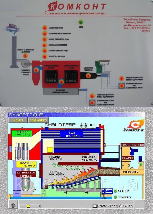 Автоматика управления котлами на биомассе Комконт CH Compact