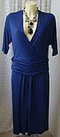 Платье синее модное Joseph Janard р.52 6563