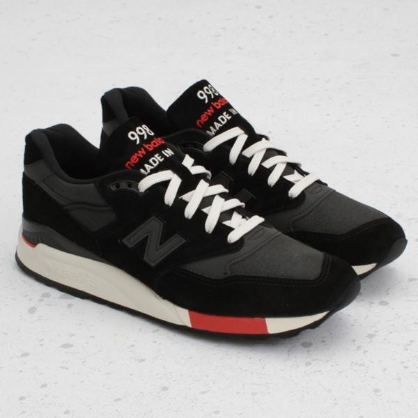 Кроссовки в стиле New Balance 998 Black Red мужские  фото ef335680da68e