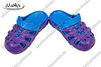 Детские сабо сине-фиолетовые (Код: Дет сабо)
