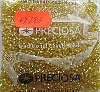 Бисер 10/0, №08286, цвет - Золото,с квадратным отверстием(уп.50 грамм)