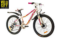 "Велосипед 24"" Optimabikes Florida бело-розовый, фото 1"