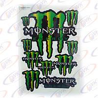 """Наклейки на скутер  """"Monster Energy""""  5955 (лист А3)"""
