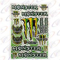 "Наклейки на скутер  ""Monster Energy""  5990Е (лист А3)"