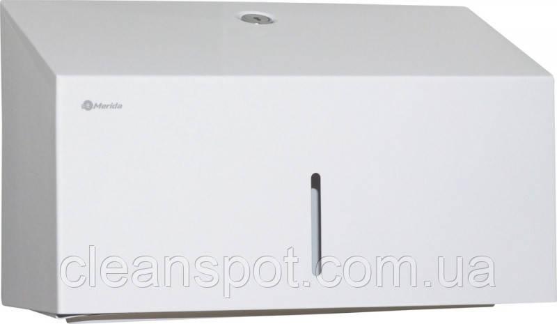 Диспенсер для листовых бумажных полотенец белый металлический Stella Mini ASB202 Merida