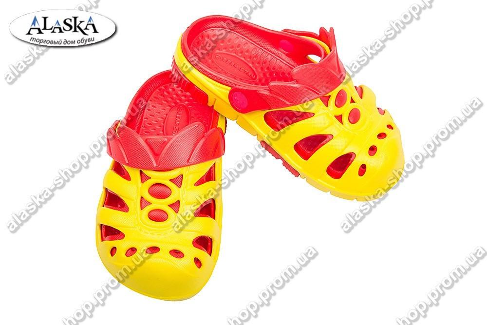 Детские сабо красно-желтые (Код: Дет сабо)