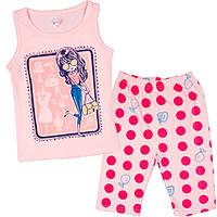Модный костюм для девочек на лето с бриджами
