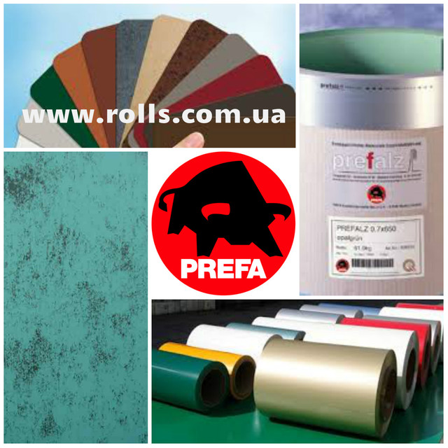 Фальцевый алюминий рулон и лист PREFA (Германия)