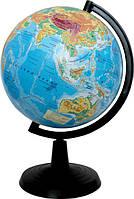 Глобус школьный физический 260 мм в коробке,украинский язык