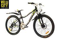 """Велосипед 24"""" Optimabikes Florida черно-зеленый, фото 1"""