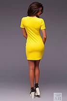 А1243 Платье спереди с молнией в расцветках, фото 2