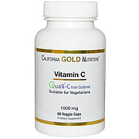 Витамин С, Quali-C, California Gold Nutrition, 1000 мг, 60 капсул