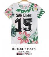 Женские футболки-сетка Glo-story XS,S,M с цветочным принтом