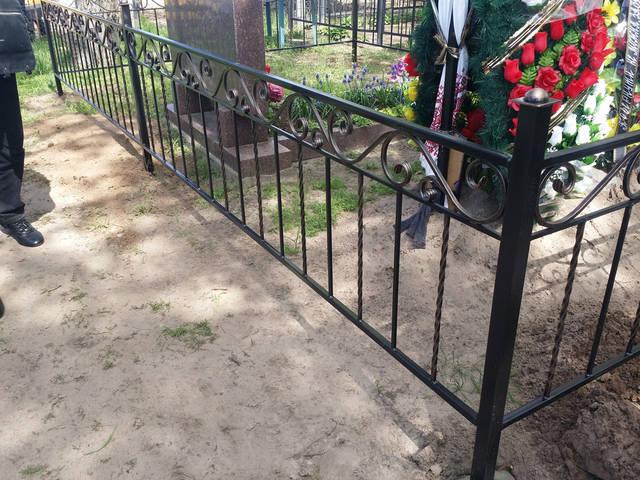 Оградка на кладбище 3